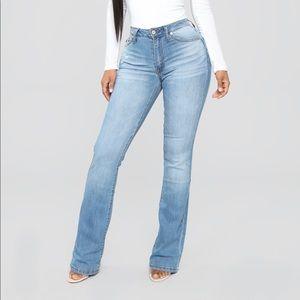 ‼️NEW‼️ Fashion Nova Flare Jeans- Medium Blue Wash